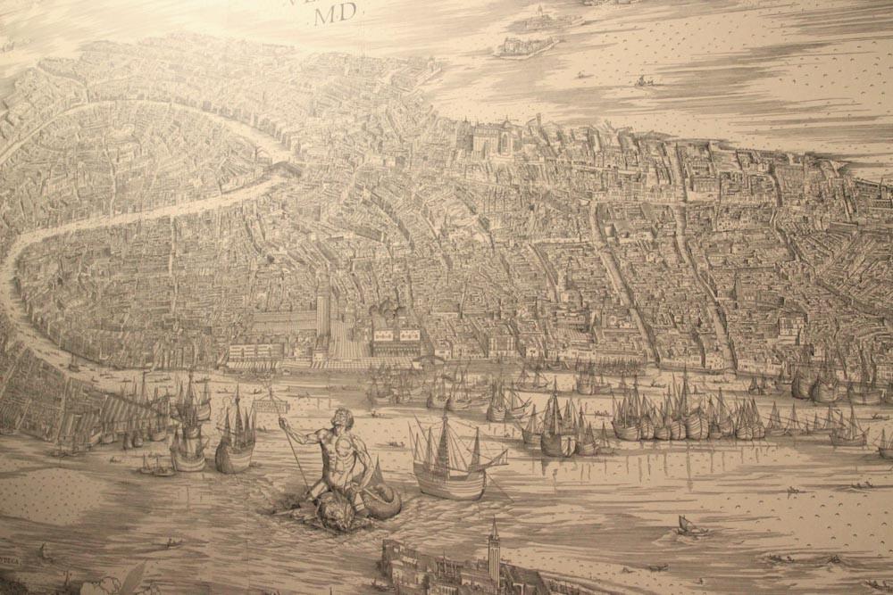 El gigantesco mapa de Venecia de Barbari (1500)