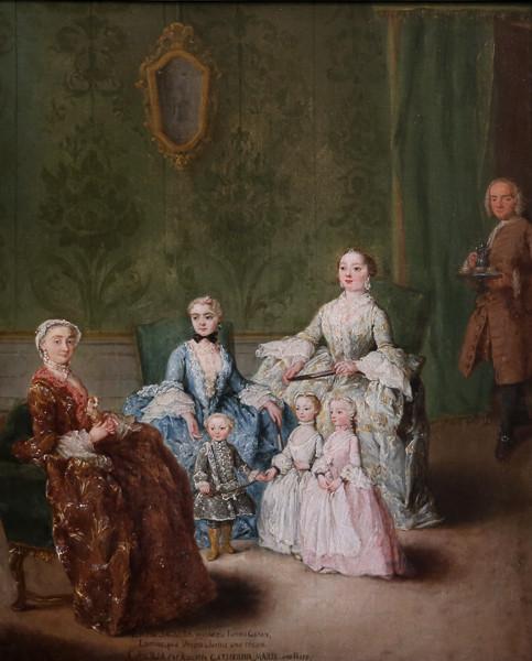 La Familia Sagredo, cuadro de Pietro Longhi (1752)