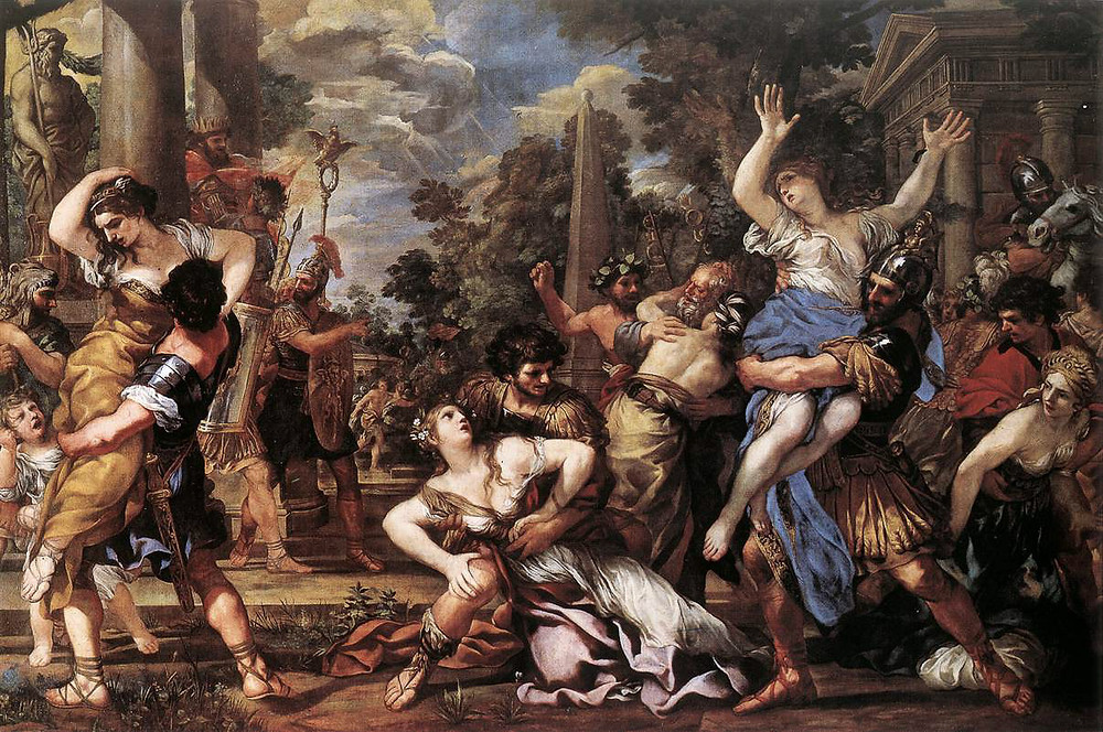 El rapto de las Sabinas de Pietro da Cortona