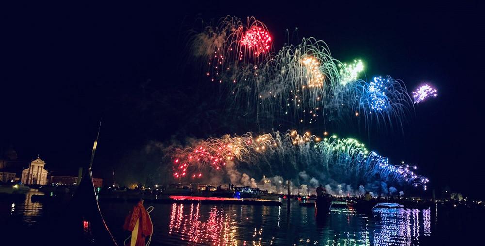 El espectáculo de fuegos artificiales