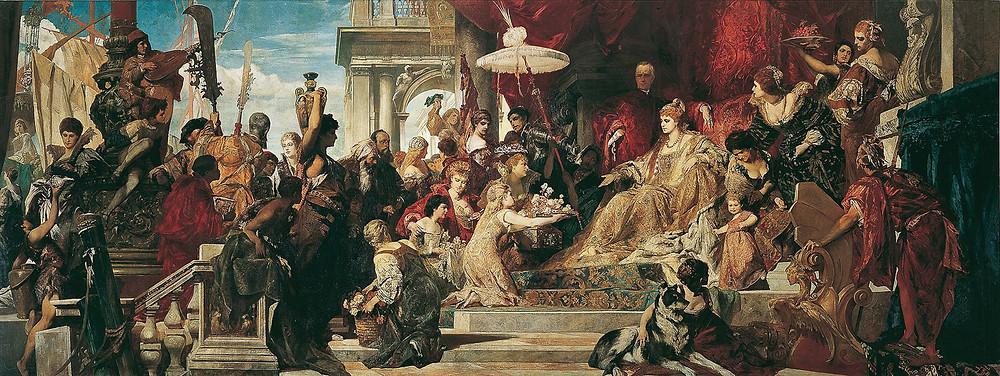 Hans Makart - Venecia rinde homenaje a Caterina Cornaro