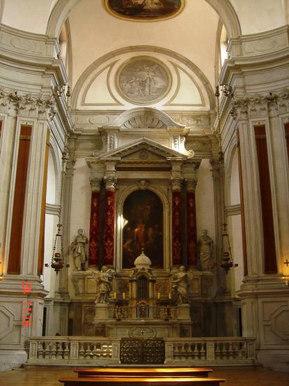 Interior iglesia Santa María de la Pietá