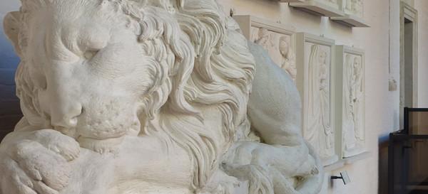 Leones de Antonio Canova, sala 7 de las Galerías de la Academia