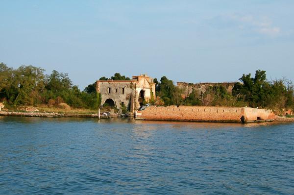 La isla de San Giorgio in Alga en la actualidad