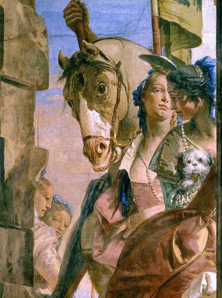 Detalle de los frescos Palazzo Labia