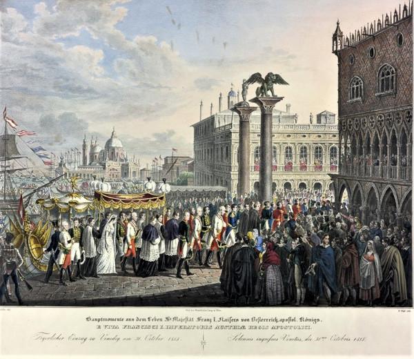 La solemne entrada de Sissi y Francisco José en Venecia en 1856