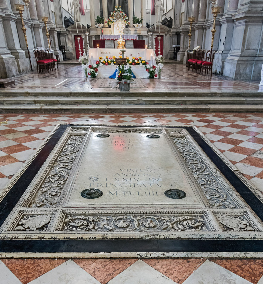 Interior, tumba de Marcantonio Trevisan