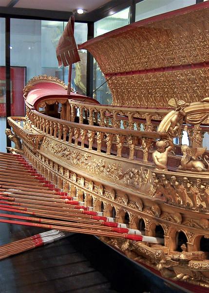 El modelo del Bucintoro en el Museo Histórico Naval Venezia