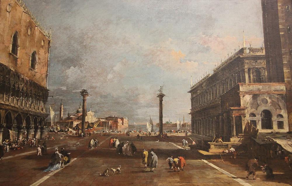 Columnas de San Marcos que enmarcaban la entrada por mar a la ciudad