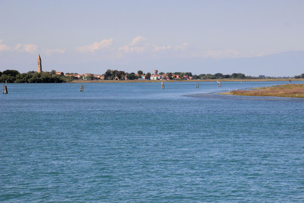 Bricole en la laguna, cerca de la isla de Torcello