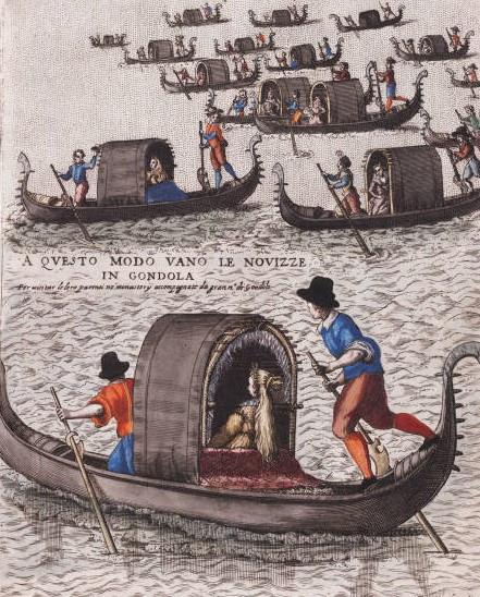 Venecisima Me gusta · 1 hora · Editado ·    Novia en felze, Grabado de Giacomo Franco (1550-1620)