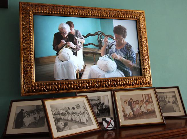 Encajeras en el Museo del Encaje