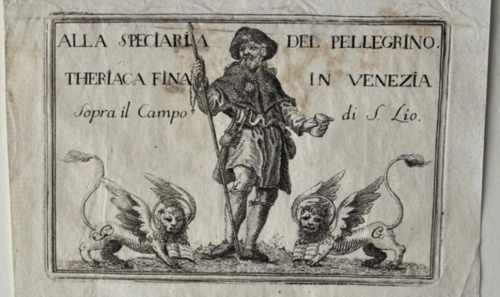 Anuncio de la Theriaca veneciana en el Campo de San Lio