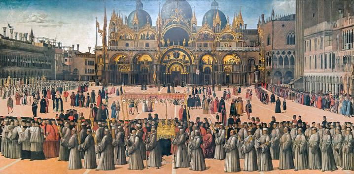 Procession en la Plaza de San Marcos, Bellini