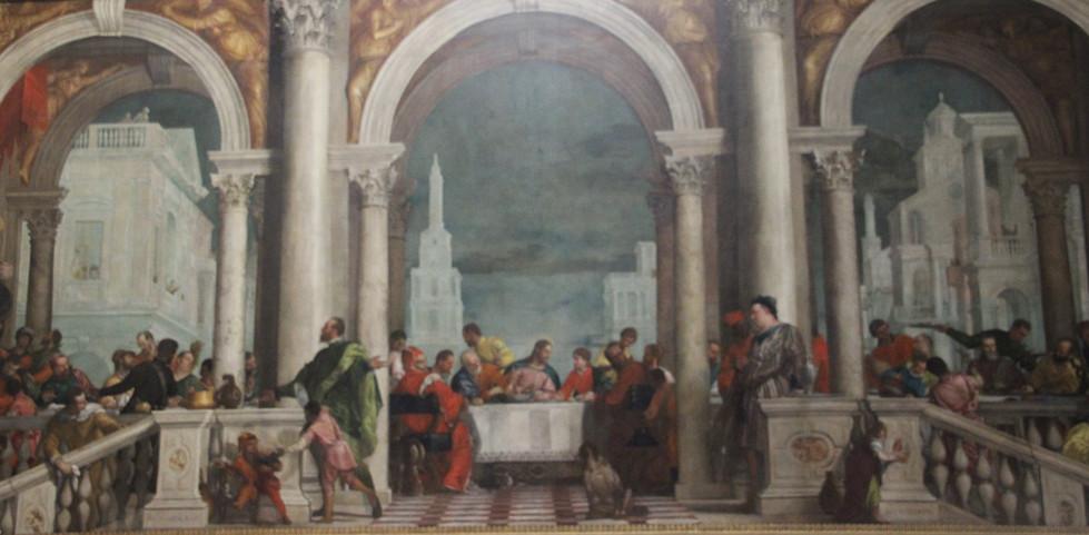 Cena en casa de levi de Veronés