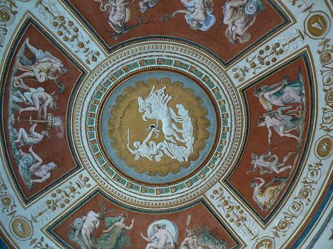 Sala de Apollo, fresco del techo