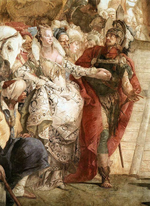 El encuentro de Cleopatra y Marco Antonio (Tiepolo) Palazzo Labia
