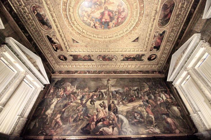 Glorificación de San Roque en el techo, Tintoretto