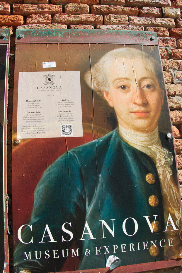 Cartel del museo de Casanova