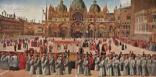 La procesión de San Marcos, cuadro de Bellini