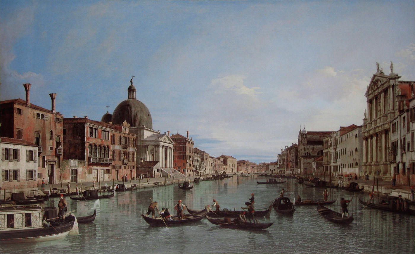 Canaletto_-_The_Grand_Canal_with_S._Sime