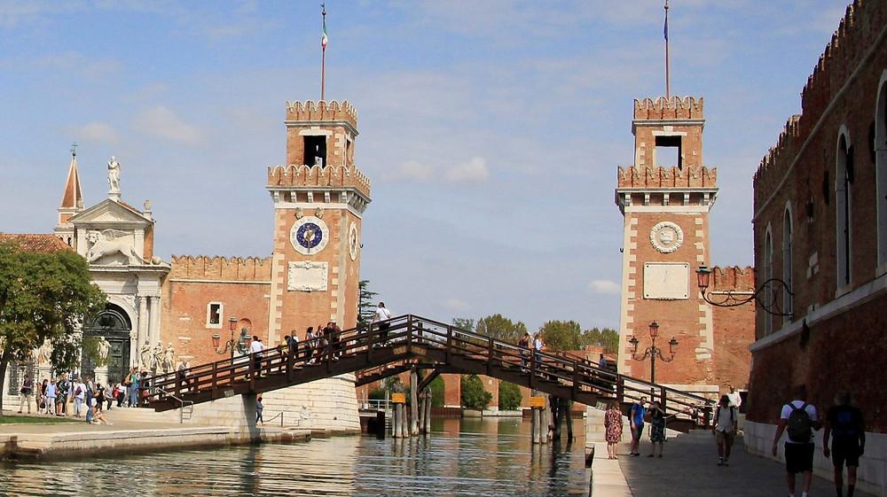 Vista del Gran Canal desde el Ponte de la Accademia