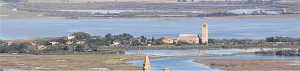 La zona de Torcello donde podemos ver los viveros de Moeche