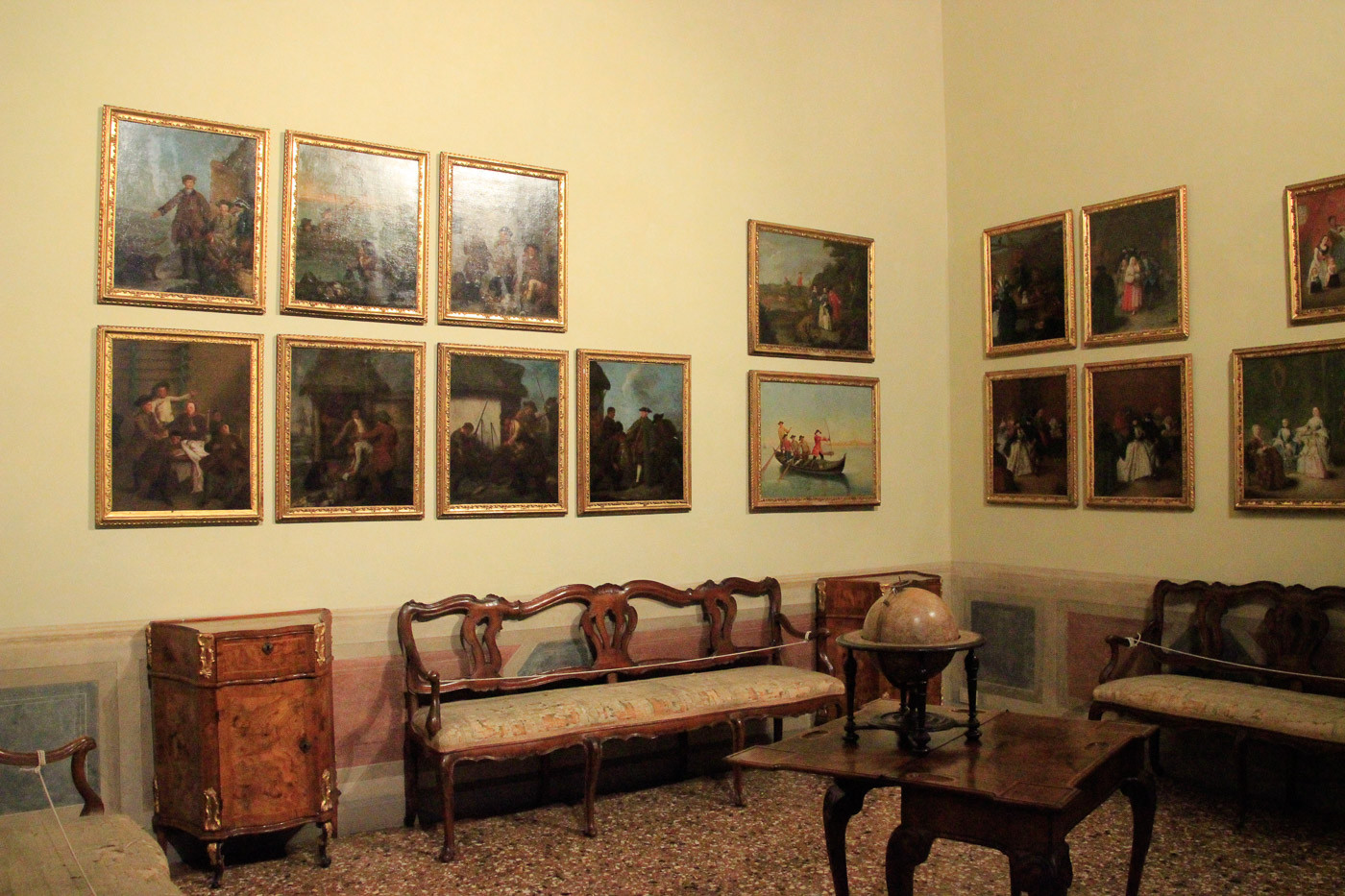 Sala de Música, cuadros de Pietro Longhi