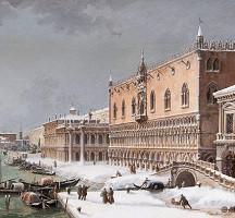 Cuando nieva y se congela la Laguna de Venecia