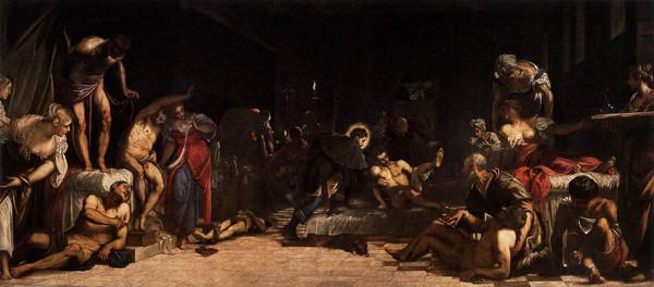San Rocco curando a los apestados