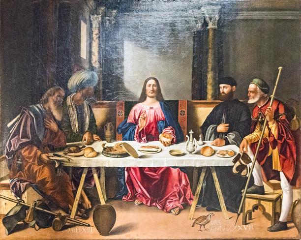 Cena en Emmaus de Bellini