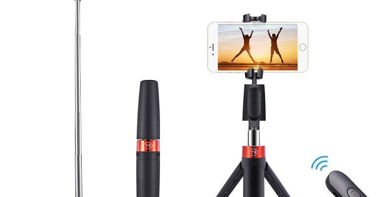 -2021 Y9 3 In1 Bluetooth Wireless Selfie Stick Tripod Universal for Smartphones