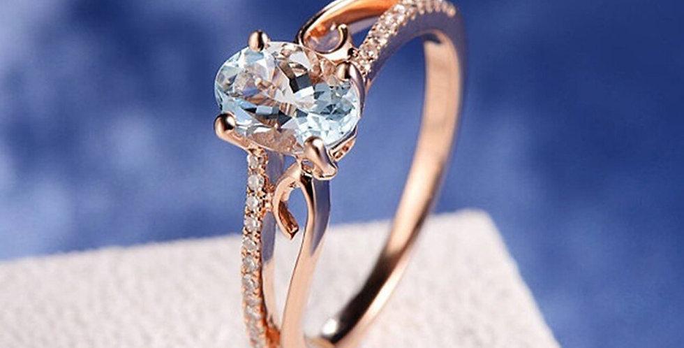 Fashion Crystal Shape Rose Gold Wedding  RIGN 2021