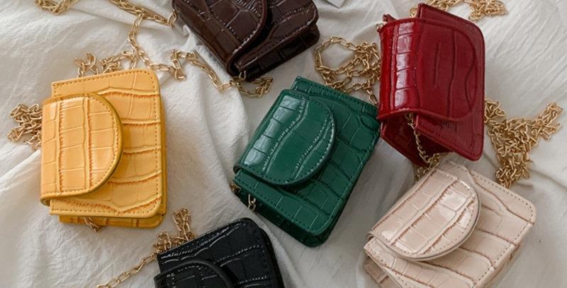 Mini Small Square Flap Bag Brand Fashion New Quality PU Leather 2021
