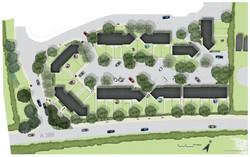 Commercial landscape design - Drawing