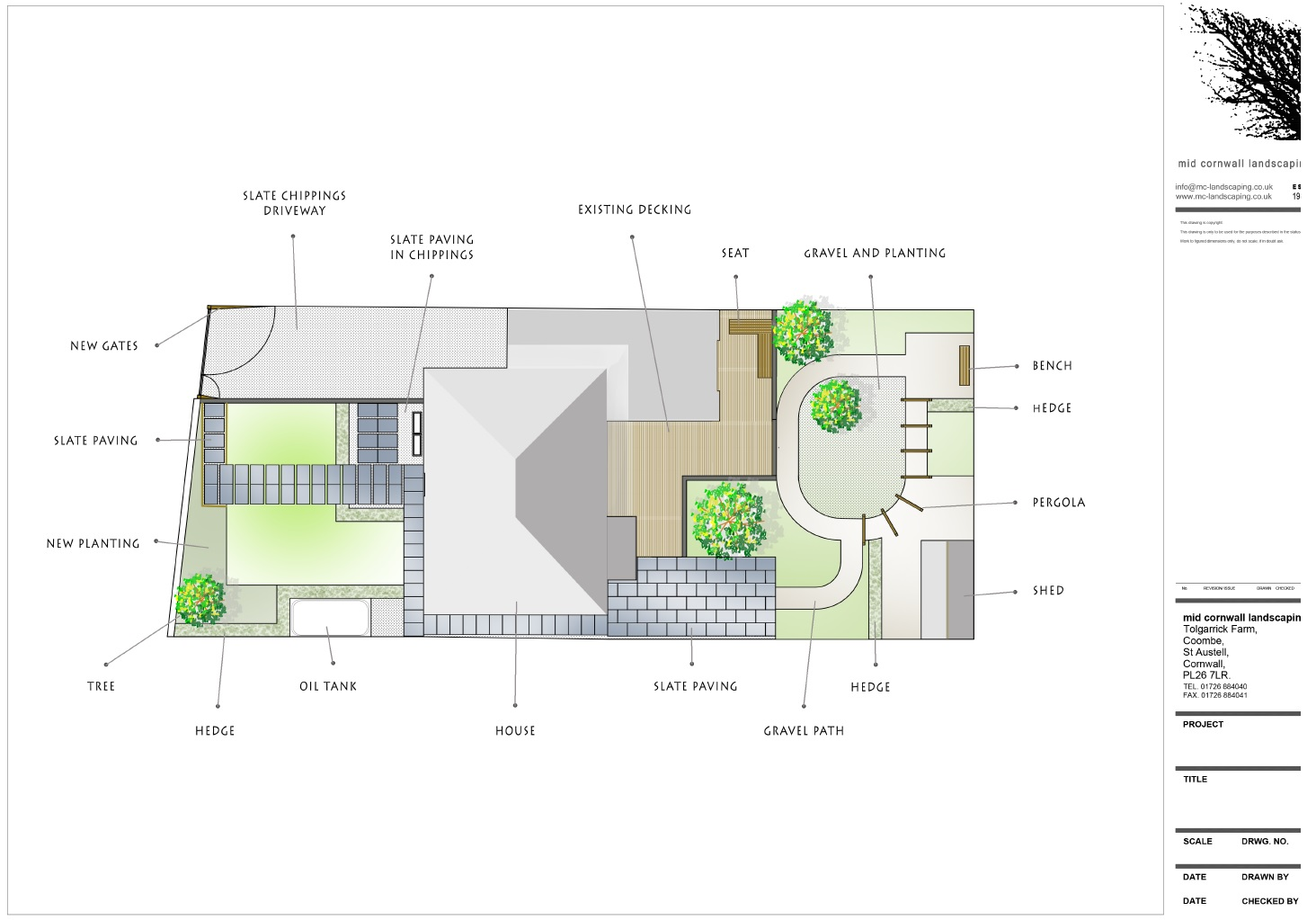 Plan view - Cornish Garden