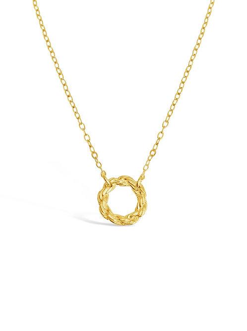 Mini Chain Circle Necklace