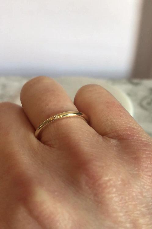 """""""Spark"""" Single Diamond Ring"""