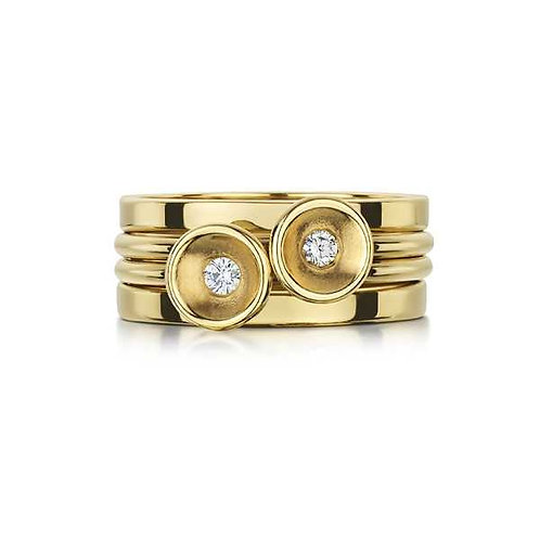 GOLD DIAMOND STACKING RING