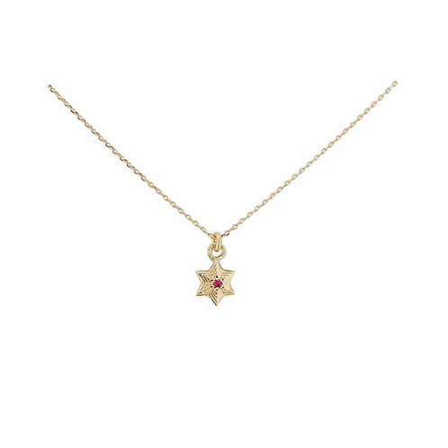 STAR RUBY NECKLACE