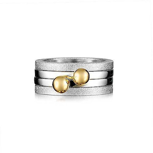 Classic Gold and Silver Stacking ring