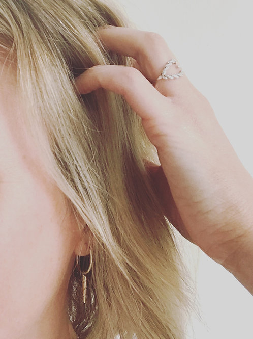 Unicorn hoop earrings large
