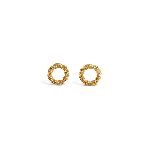Chain Circle Stud Earrings