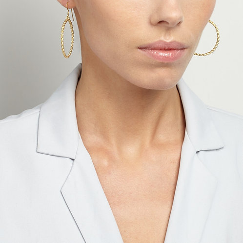 Large Chain Circle Drop Hoops
