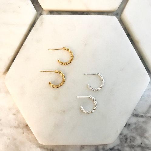 Rope Huggie earrings