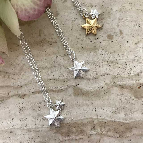 DOUBLE VINATGE STAR NECKLACE