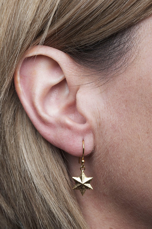 LARGE VINTAGE STAR DROP EARRINGS