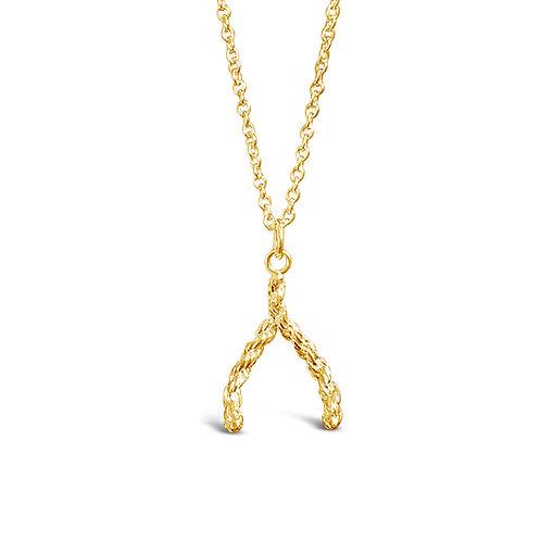 Wishbone Vintage Charm Necklace