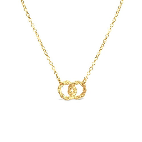 Mini Interlocking Chain Circle Necklace