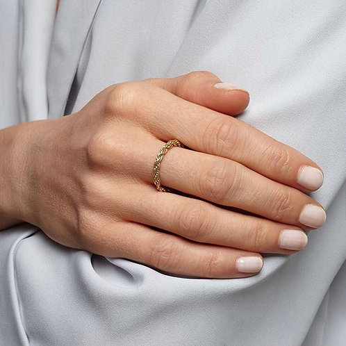 Solid Gold Rope Ring